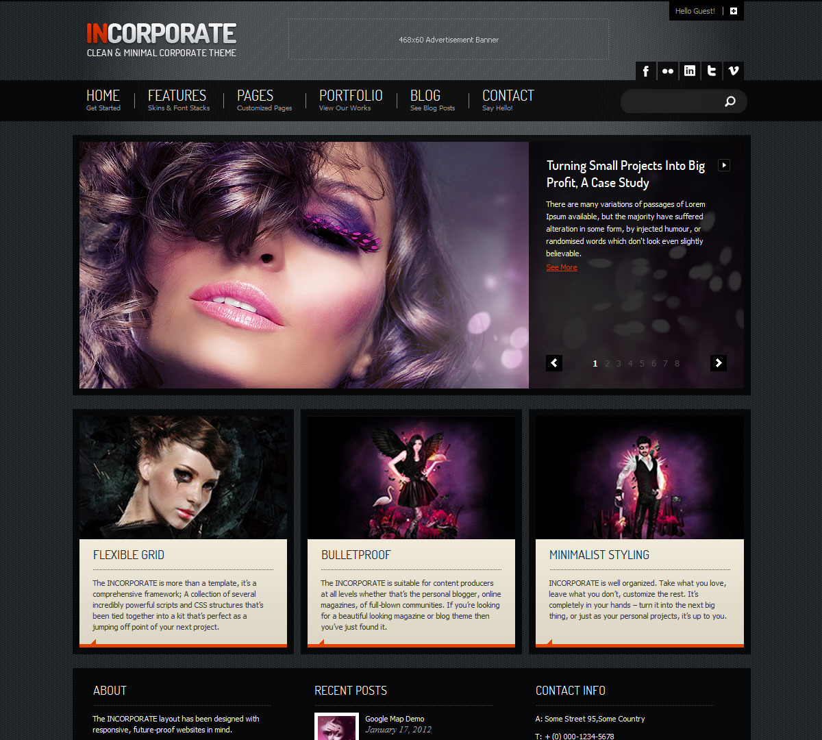 Incorporate WordPress Template - Home Page With Dual Slider