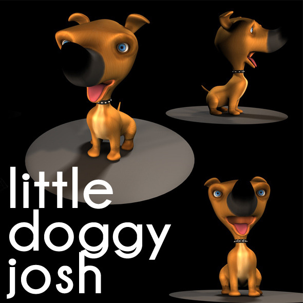 3DOcean little cute doggy josh 3414869