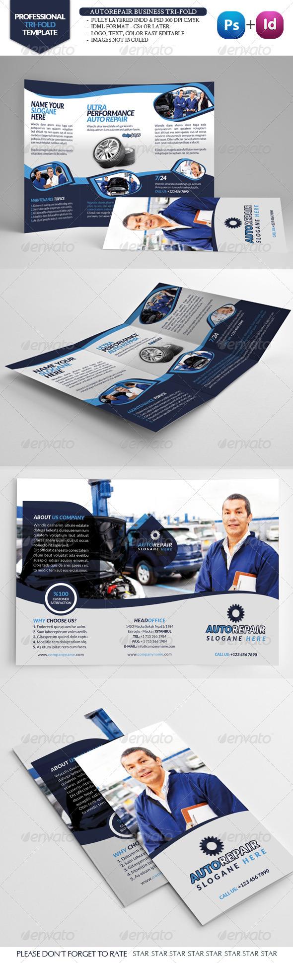 Automobile Repair Tri-Fold