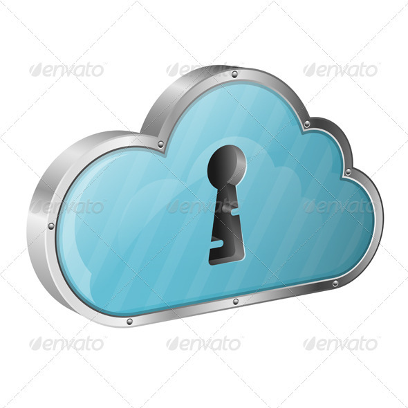 GraphicRiver Security Cloud Computing Concept 3415030