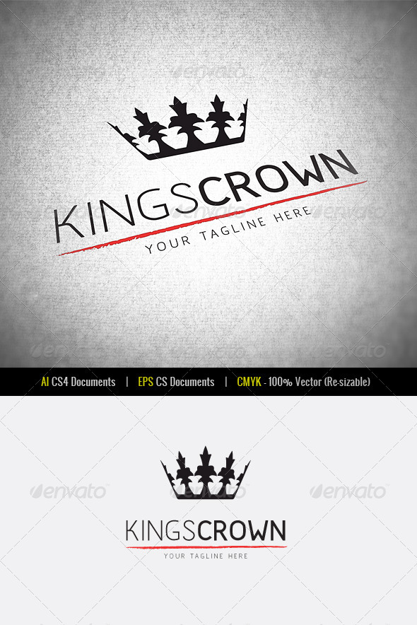 GraphicRiver KingsCrown Logo Template 3415081