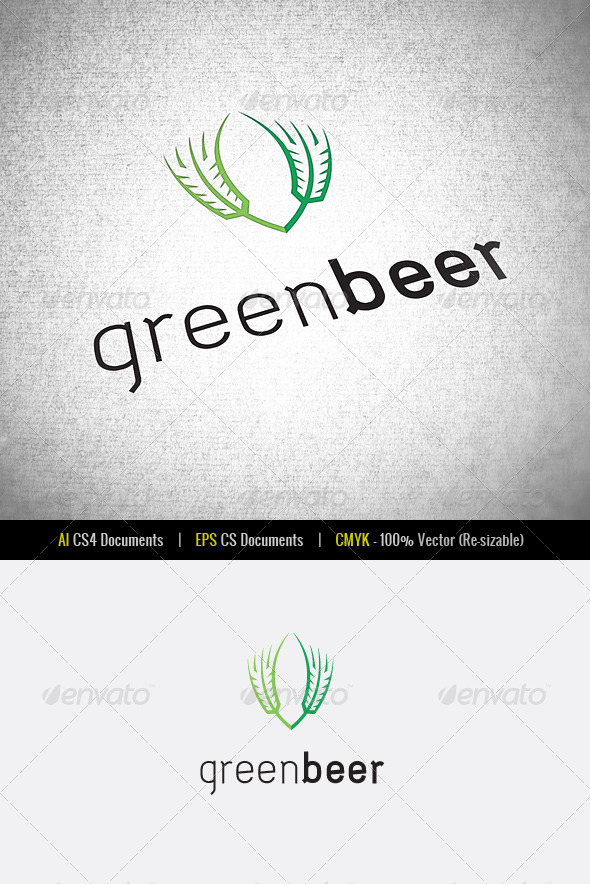 GraphicRiver Green Beer Logo Template 3415128