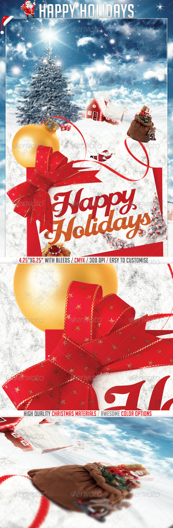 GraphicRiver Happy Holidays Flyer Invitation Template 3415360