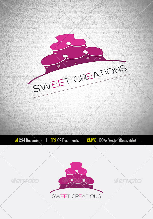 Sweet Creations Logo Template - Food Logo Templates