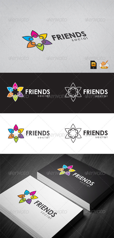 GraphicRiver Friends Social Logo Teamplates 3415765