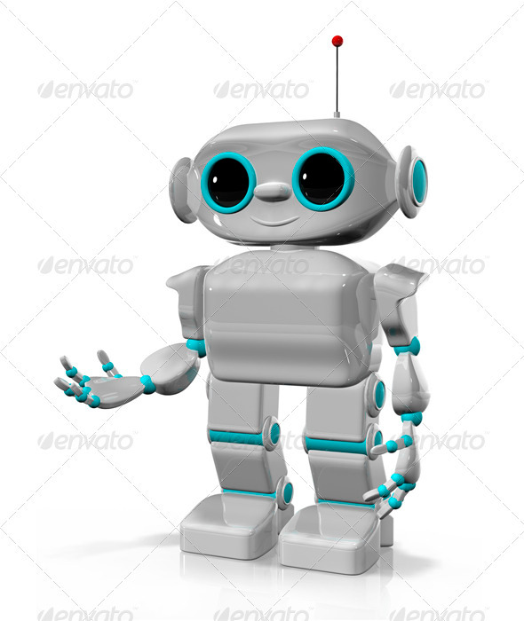 GraphicRiver Cheerful Robot 3393080