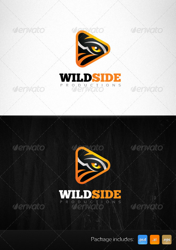 Wild Side Production Tiger Eye Creative Logo - Animals Logo Templates