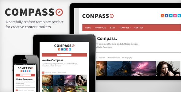 ThemeForest Compass Responsive HTML5 Template 3416403