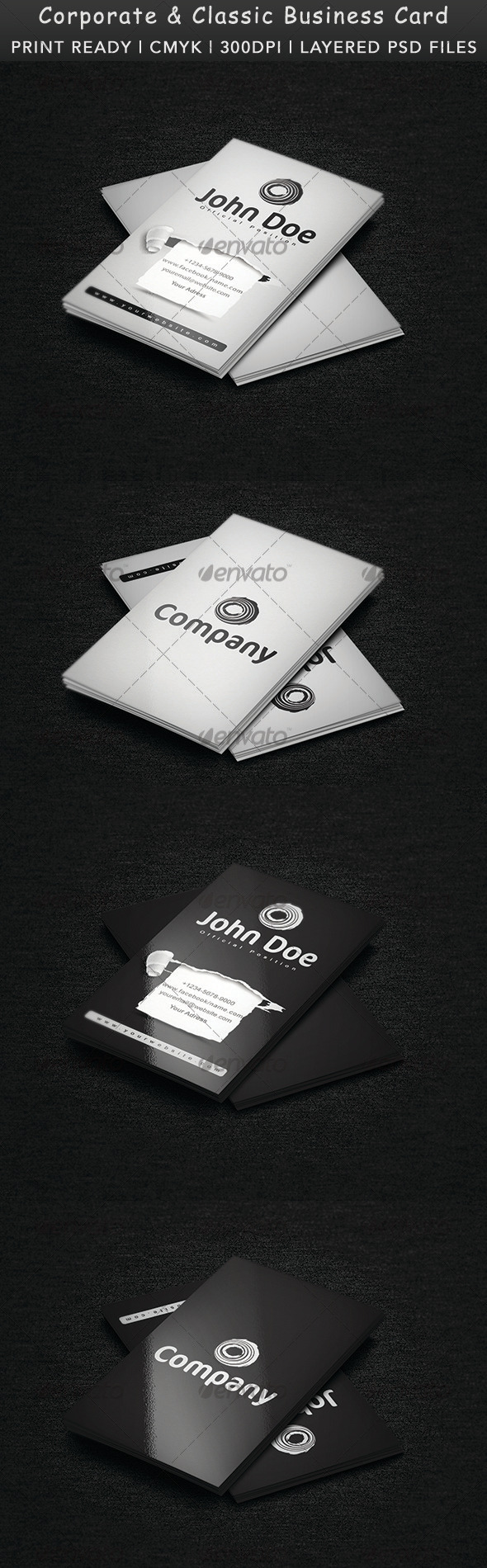 Corporate & Classic Business Card - Creative Business Cards