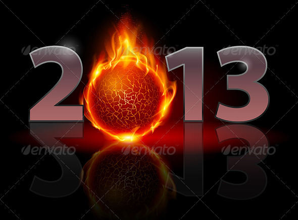 GraphicRiver Twenty Thirteen Year Fireball 3416727