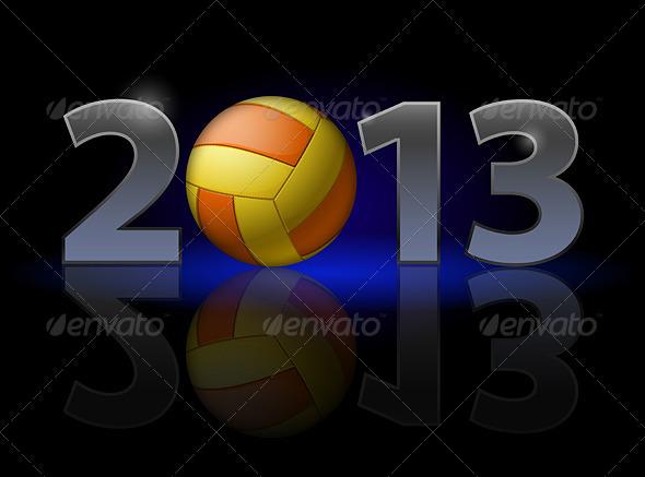 GraphicRiver Twenty Thirteen Year Volleyball 3416808