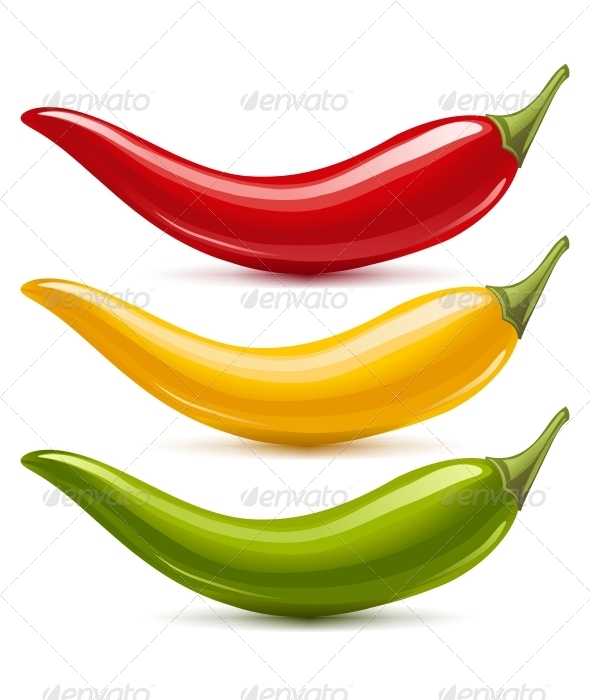 GraphicRiver Hot Chilli Pepper Vector Set 3416934