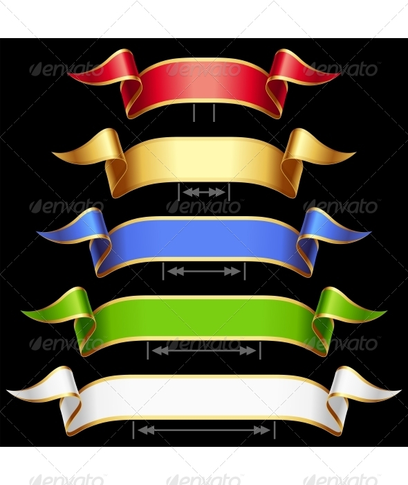 GraphicRiver Ribbon Set with Adjusting Length 3417040