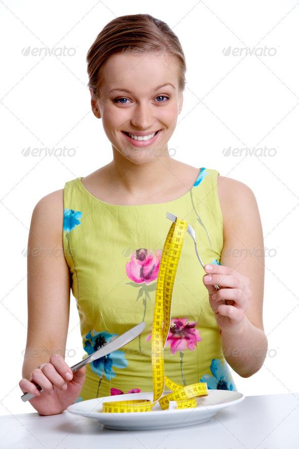 руская девушка с вилклй в руках фото