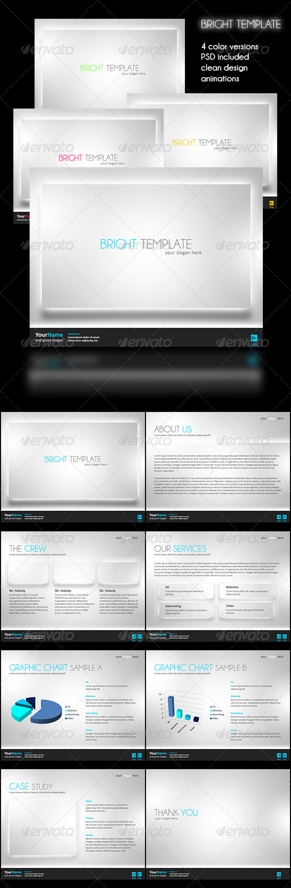 GraphicRiver Bright Powerpoint Template 3418037