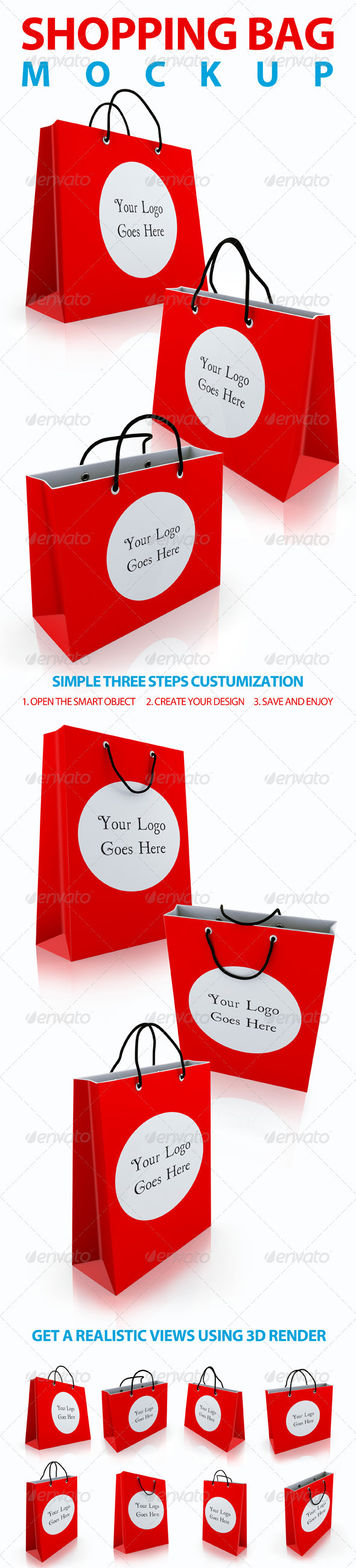 GraphicRiver Shopping Bag Mockups 3418264