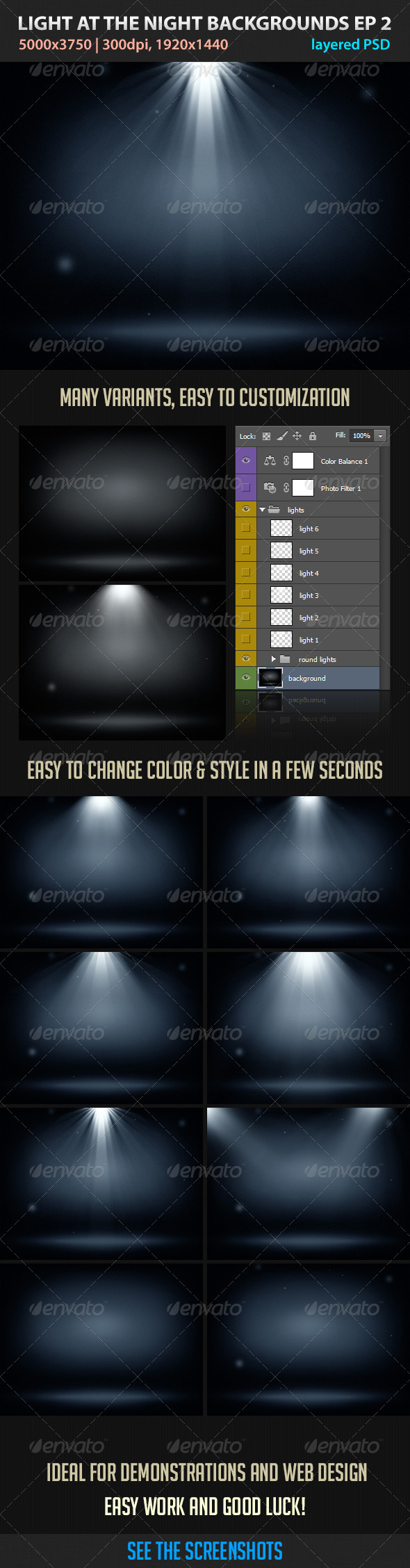 GraphicRiver Light at the Night Backgrounds EP2 3418276