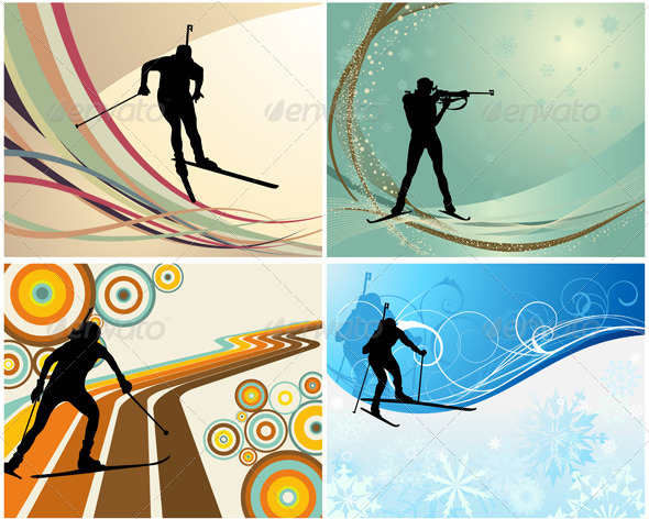 GraphicRiver Biathlon Set 3418308
