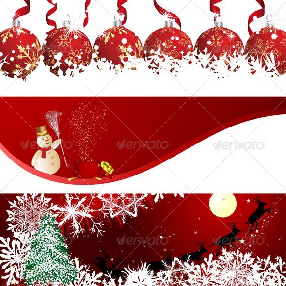 GraphicRiver Christmas Banner Set 3418314