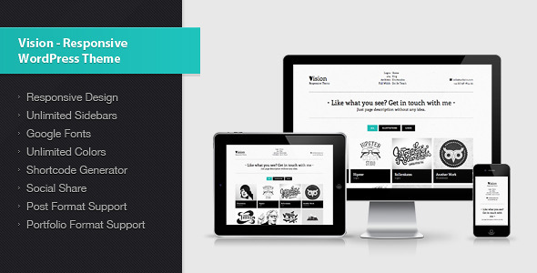 ThemeForest Vision Responsive WordPress Theme 3390147