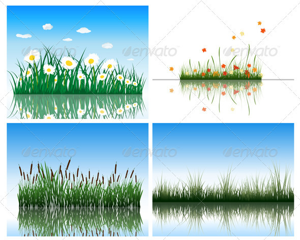 GraphicRiver Water Flora Set 3418341