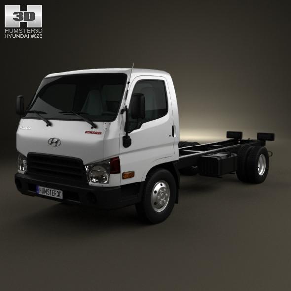 3DOcean Hyundai HD65 Chassis Truck 2012 3418472