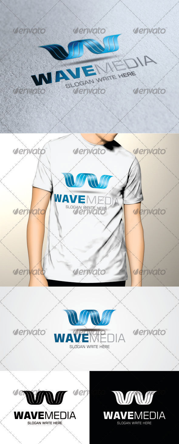 GraphicRiver Wave Media Logo Template 3418958