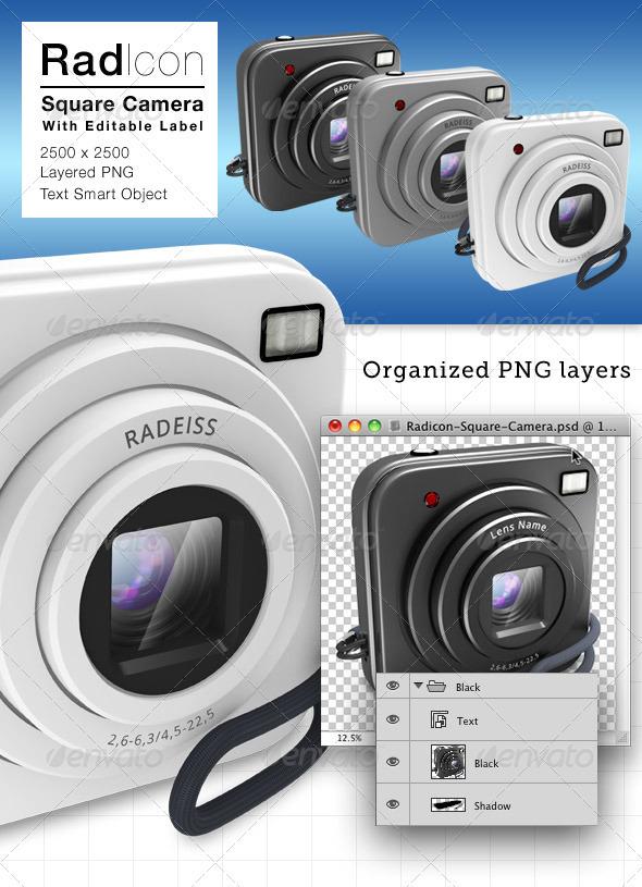 GraphicRiver Radicon Square Camera Icon 3419003