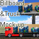 Billboard and Truck Mock-up - GraphicRiver Item for Sale