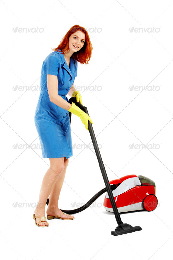 Cleaning floor - Stock Photo - Images