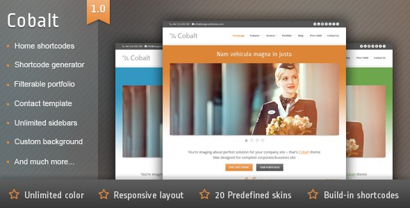 Cobalt - Responsive WordPress Theme - Business Corporate