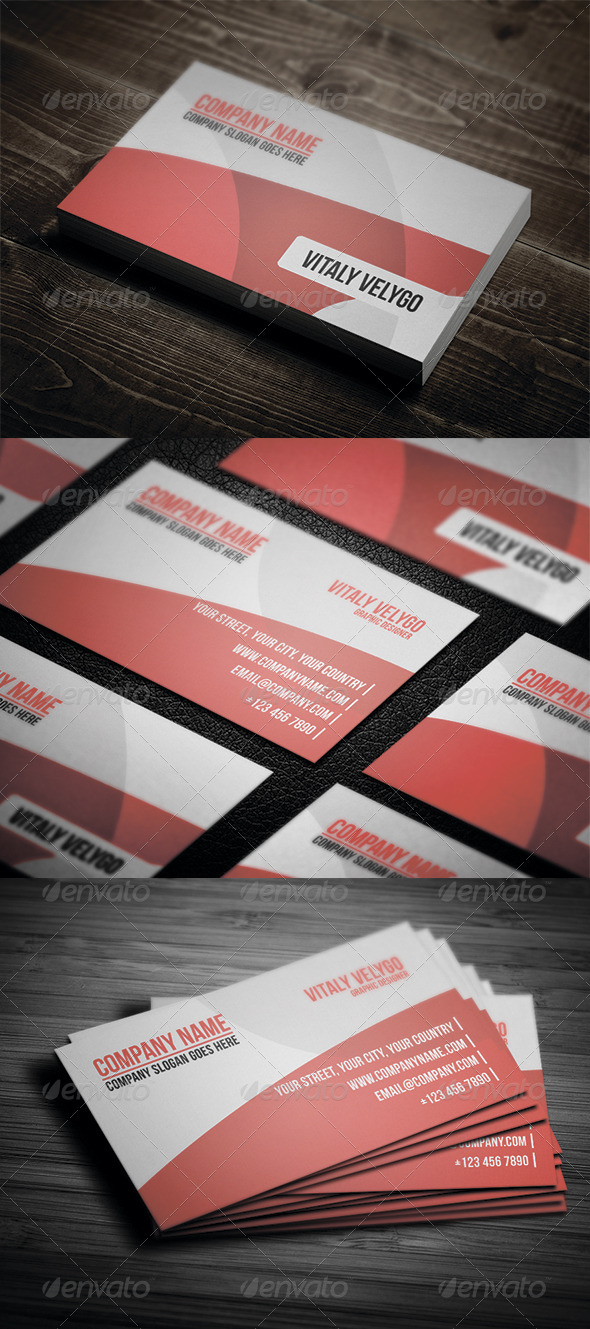 GraphicRiver Corporate Business Card 3401090