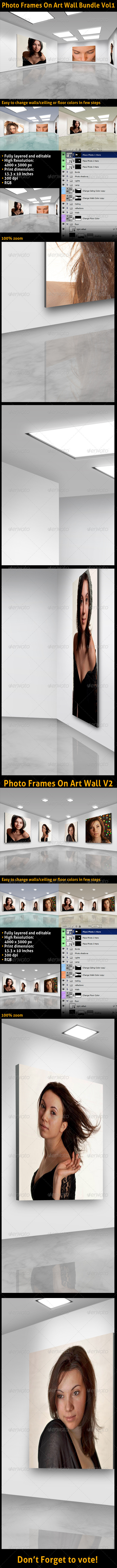 GraphicRiver Photo Frames On Art Wall Bundle Vol1 3421125
