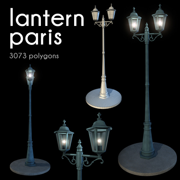 Lantern Paris - 3DOcean Item for Sale