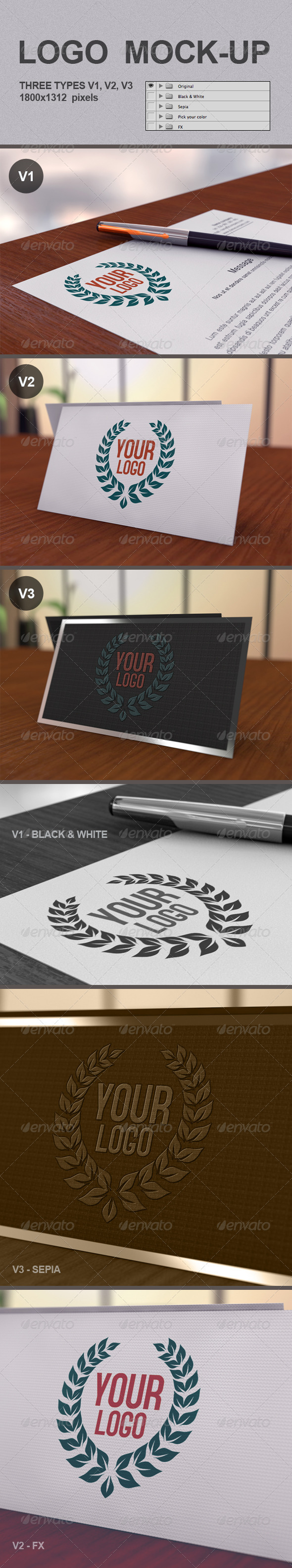 GraphicRiver Realistic Logo Mock-Up 3422245