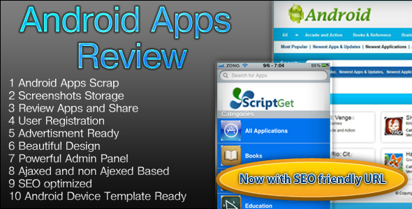 CodeCanyon Android Apps Review Script 3003861