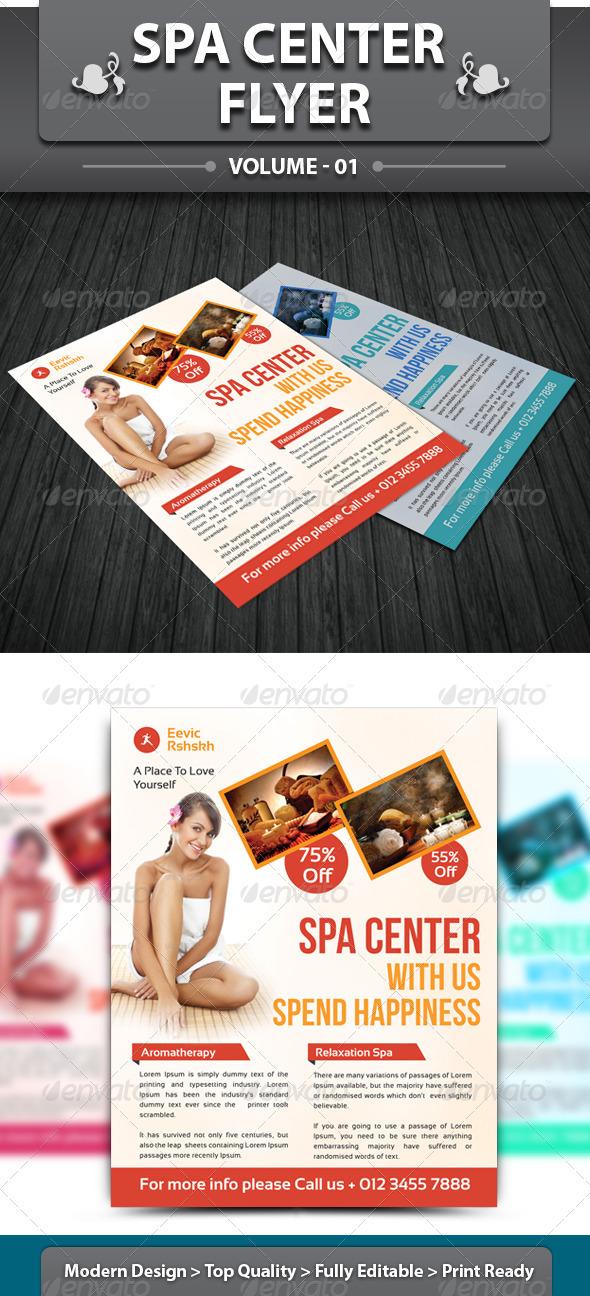 Spa & Beauty Saloon Flyer | Volume 1 - Corporate Flyers
