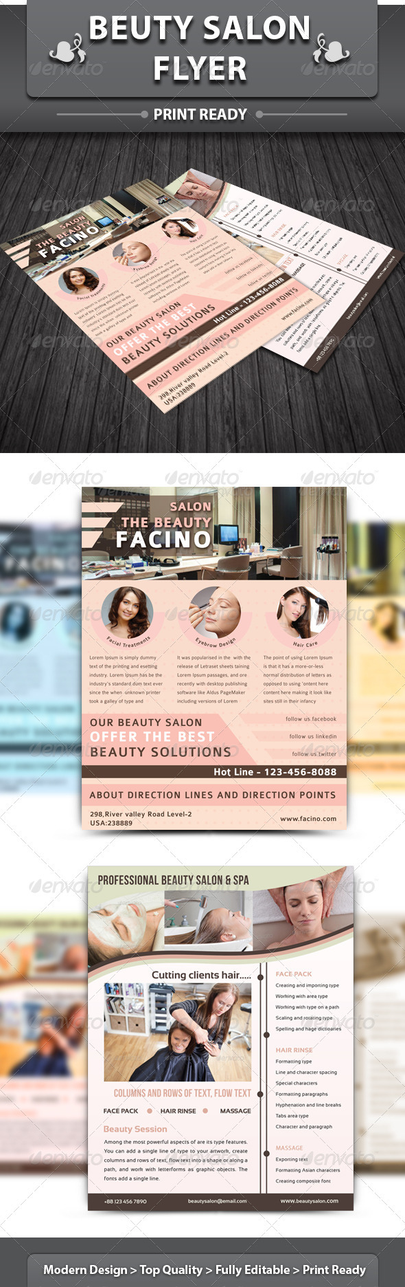 Spa & Beauty Saloon Flyer | Volume 2 - Corporate Flyers