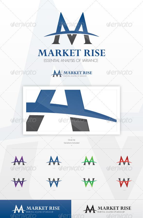 Market Rise Logo Template - Letters Logo Templates