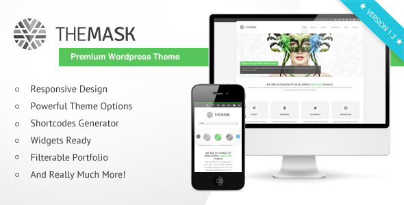 The Mask - Premium Wordpress Theme - Creative WordPress