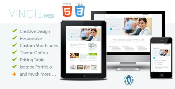Vincie.web - Responsive Modern WordPress Theme