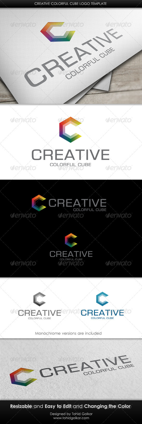 GraphicRiver Creative Colorful Cube Logo Template 3422686
