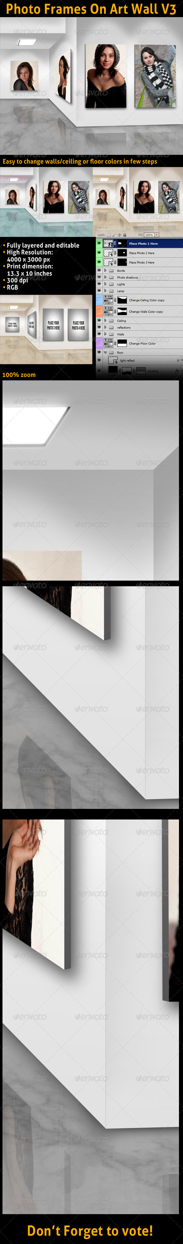 GraphicRiver Photo Frames On Art Wall V3 3399706