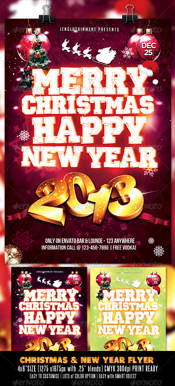 GraphicRiver Christmas & New Year Flyer 3422727