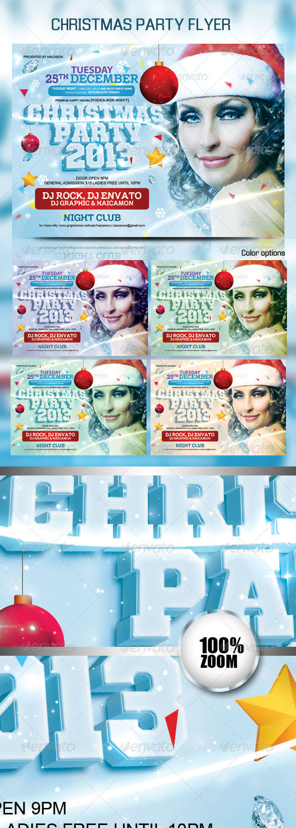 GraphicRiver Christmas Party Flyer Template 3422734