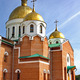 The Russian Church with Gold Towers on Blue Sky - PhotoDune Item for Sale