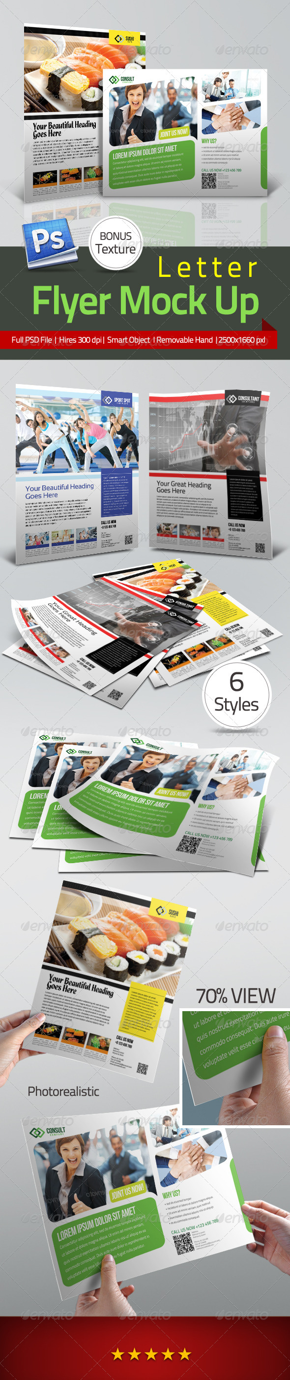 Professional Flyer Letter Mock Up - Flyers Print
