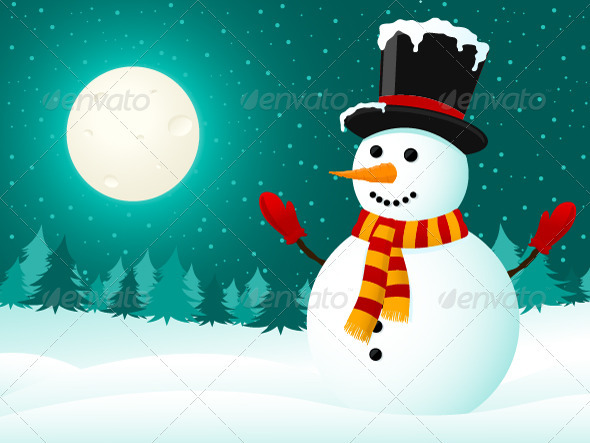 GraphicRiver Snowman 3423334