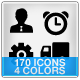 170 Vector Icons - Noir - GraphicRiver Item for Sale