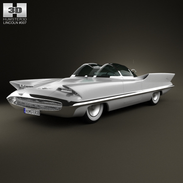 3DOcean Lincoln Futura 1955 3423889
